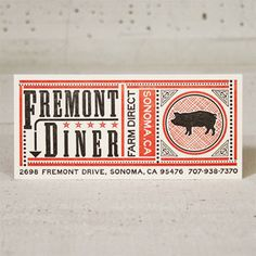 The Fremont Diner (in Sonoma) is ridick delish.  I have one of these business Cards in my possession (and it's absolutely fabulous)!