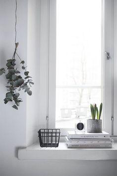 Pihkala: IKKUNALAUDALLA | Window decor | home decor details, love the botanical details