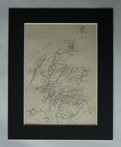 1916 Antique Map of Scotland  Scottish Print  by PrimrosePrints