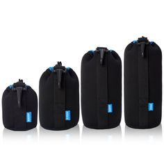ESDDI Lens Case Camera Lens Pouch Thick Protective Inside with Blue Soft Plush Neoprene Bags for DSLR(Canon, Nikon, Pentax, Sony, etc. 4-Pack) *** For more information, visit image link. (This is an Amazon Affiliate link and I receive a commission for the sales)