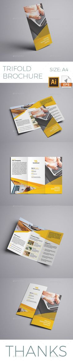 #Corporate #Trifold #Brochure #Template - #Business #Brochures #Print #Design. Download here: https://graphicriver.net/item/trifold-brochure/19739700?ref=yinkira
