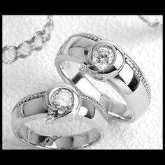 Bague alliance en argent K7, bijoux femme et homme.