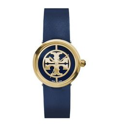 It's not a purse...but gosh it's PURDY  Tory Burch Navy Leather/Gold-Tone, 28 mm