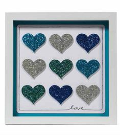 Glitter Paper Frame | Make your own Hearts Glitter Paper Frame -- Tutorial from @joannstores