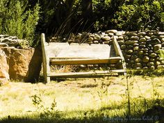 This Santa Fe Backyard Bench sits waiting in the high desert sun, for someone to come and sit for a while.