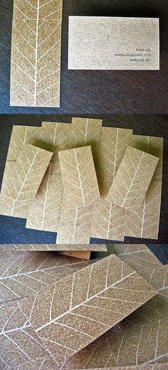 Amazingly Life Like Leaf Style Business Card Design