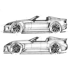 Car Design Sketch, Car Sketch, Lowrider Drawings, Honda S2000, Motorcycle Design, Drawing Sketches, Cars Motorcycles, Vehicles, Inspiration