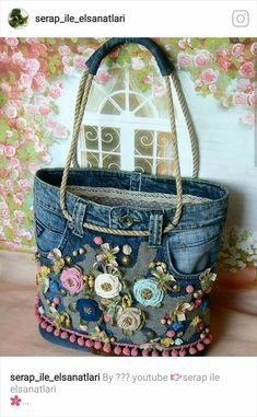 Best 12 Free Tutorial: Easy support for sewing in pocket bottoms - Diy tasche nähen - bags Artisanats Denim, Diy Denim Purse, Blue Denim, Denim Shorts, Denim Crafts, Boho Bags, Old Jeans, Denim Bags From Jeans, Recycled Denim
