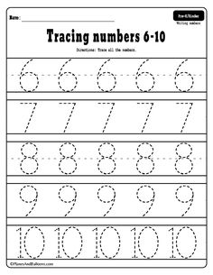 Tracing numbers free printable worksheets - learning numbers in preschool and kindergarten. Number tracing worksheets for preschool and kindergarten. Free printable pdf number worksheets for tracing practice. Letter Tracing Worksheets, Number Tracing, Number Worksheets, Worksheets For Kids, Free Printable Numbers, Free Printable Worksheets, Preschool Printables, Numbers Preschool, Learning Numbers