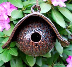 Rustic Birdhouse Stoneware Pottery