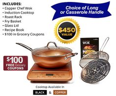 Copper Chef Wok™: large nonstick oven-safe wok for healthy family meals $100