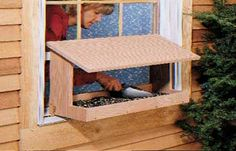 Window View Bird Feeder via Laura Jackson