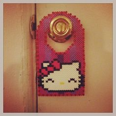 Hello Kitty door hanger perler beads by Strider