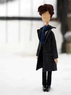Sherlock Holmes  handmade doll from BBC by justanothercountry, $60.00