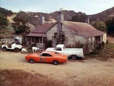 """Dukes of Hazzard 1979 'Uncle Jesses Farmhouse""""Classic Photo General Lee Custom Muscle Cars, Best Muscle Cars, Custom Cars, My Dream Car, Dream Cars, Classic Tv, Classic Cars, Hot Wheels, General Lee Car"""