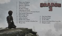 "(Unofficial List for the HTTYD3 Soundtrack) GUYS THE LAST TRACK SAYS ""DRAGONS AGAIN"" I'M FREAKING OUT HERE"