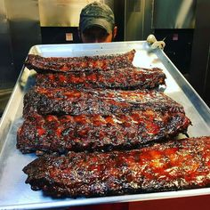 Look at those glorious gooey ribs! Pic and ribs courtesy @notoriouspigbbq - Rainy Sunday slabs!! . . . #Grill #Grilling #BBQ #Barbecue #GrillPorn #FoodPorn #Pork #PorkPorn #Ribs #Food #Foodie #FoodPhotography #Foodstagram #InstaFood #FoodPics #foodphotos #Foodgasm #Meat #MeatPorn #Paleo #GlutenFree #EEEEEATS #ForkYeah #ManFood #instagood #instacool #instalike #amazing