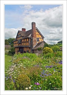 Stokesay Castle Garden, Shropshire love the wild garden look, going to do that this year in some of my gardens. Medieval Houses, England And Scotland, Country Estate, English Countryside, British Isles, Great Britain, That Way, Wonders Of The World, Hillside Garden
