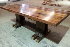 Nullarbor Sustainable Timber offers a range of finely crafted, designer timber tables. Recycled Timber Furniture, Timber Table, Decking, Sustainability, Melbourne, Recycling, Tables, Dining Table, Posts