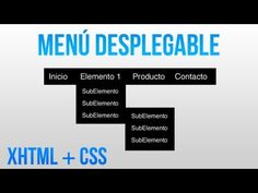 Como hacer un menu desplegable con HTML y CSS - YouTube