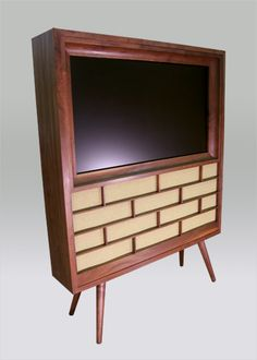 flat panel console...totally DIY-able for the modern retro home!