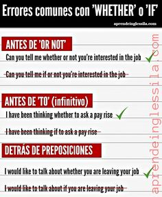 El uso de WHETHER o IF en inglés - Aprende Inglés Sila