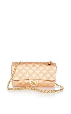 26699c706739d Vintage Chanel Pink Satin Tan Stitch Handbag From What Goes Around Comes  Around