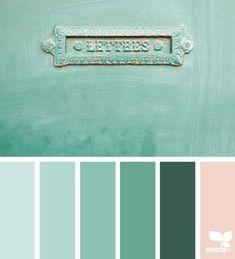 { color letter } | image via: @rotblaugelb ... #seedscolor #designseeds #color #palette #colorpalette