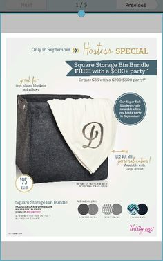 September 2015 Specials!  Thirty-one <3