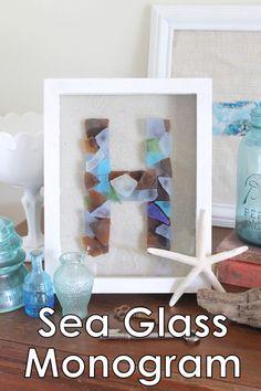 sea glass monogram tutorial