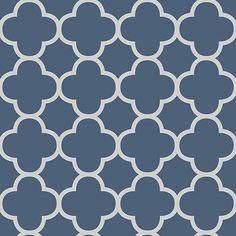 - Wallpaper - Blue - Transitional - Contemporary - Geometric