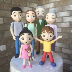 People - family - cake toppers tutorial - cute fiures