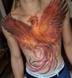 Phoenix Tattoos World's Best Phoenix Tattoo Designs & Meaning Stomach Tattoos, Body Art Tattoos, New Tattoos, Sleeve Tattoos, Tattoos For Guys, Cool Tattoos, Awesome Tattoos, Tatoos, Tattoos Skull