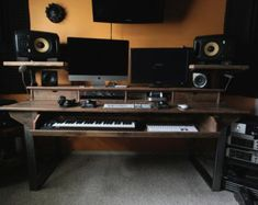 Reclaimed Composer / Studio Desk for Audio / Video / Film / Editing / Production