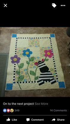 Kid Quilts, Girls Quilts, Easy Quilts, Quilting Tips, Quilting Projects, Sewing Projects, Quilt Baby, Baby Girl Quilts, Baby Beds
