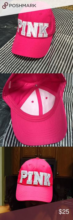 Victoria's Secret PINK Hat HAND MADE- looks like Victoria's Secret PINK caps but not from listed brand. These hats are brand new, so they have no flaws. Other colors are available upon request. PRICE IS FIRM. Please check out my other Nike hats ❤️ PINK Victoria's Secret Accessories Hats