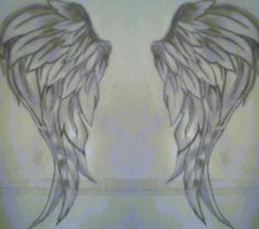 Double layered wing tattoos on back for women - Google Search
