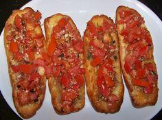 Bruschetta is absolutely my favorite starter before any Italian dinner.