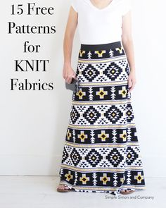 15 Sewing Projects for KNITS (and Beginners!) – Simple Simon and Company 15 Sewing Projects for KNITS (and Beginners!) – Simple Simon and Company,modest clothing 15 Sewing Projects for KNITS (and Beginners! Sewing Basics, Sewing Hacks, Sewing Tutorials, Sewing Tips, Serger Sewing Projects, Sewing Ideas, Knitting Projects, Sewing Crafts, Fabric Crafts