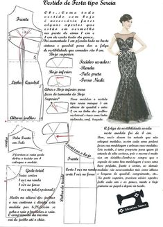 Formal Evening Dresses, Strapless Dress Formal, Diy Dress, Party Dress, Costura Fashion, Gown Pattern, Dress Making Patterns, Poster S, Fashion Sewing