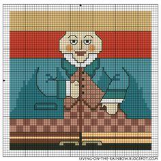 Живущая на Радугe: Схема к Шляпнику / 'The Hatter', my cross-stitch pattern