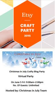 CIJ Etsy Craft Party - In Just 1 Week!! | EtsyChristmasInJuly