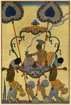 India. The Romance of Perfume, Richard Le Gallienne, 1928.  Illustrations by George Barbier