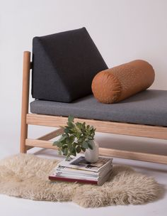 modern geometric daybed that acts as a lounger, sofa, and or bed