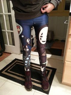 Studio Ghibli leggings -- Almost bought these last weekend, they'd be pretty bold!