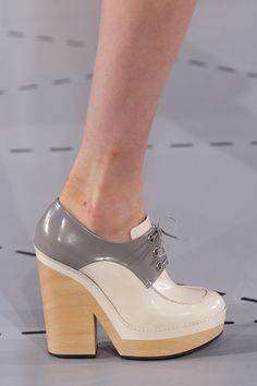 Jil Sander Spring 2014 Ready-to-Wear Collection Slideshow on Style.com #wooden #platform #derby