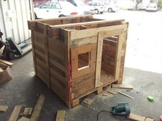 step 4 for pallet playhouse