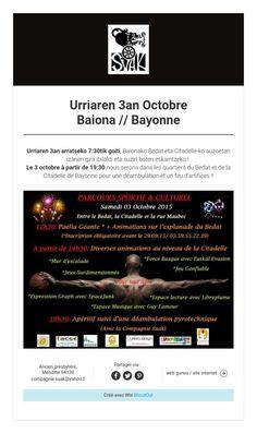 Urriaren 3an Octobre  Baiona // Bayonne