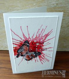 A creative way to express myself Pop Up Cards, Cool Cards, Diy Cards, Studio Cards, Mixed Media Cards, Brusho, Watercolor Cards, Watercolour, Butterfly Cards