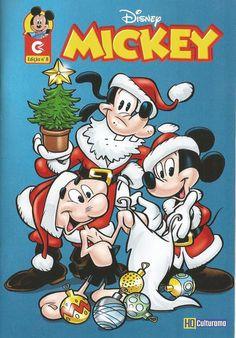 GCD :: Cover :: Mickey #8 Christmas Comics, Disney Mickey, History, Crochet, Cover, Floral, Historia, Crochet Crop Top, Haken